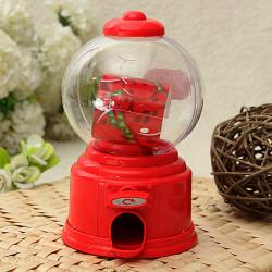 Mini Candy Machine Chocolate Coin Piggy Bank Storage Jar Kids Gift Toy