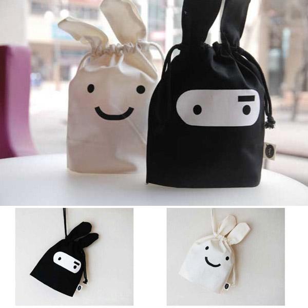 Mini Cute Ninja Kaninchen Speicherbeutel Kasten Beutel 34 x 21cm Hauswirtschaft