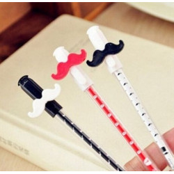 Moustache BallPoint Pen Stationery Rollerball Gel Ink Kid Writing Toy