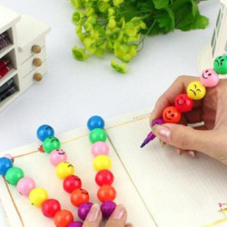 Multi Color Tecknad Expression Överdraget Med Socker Haws Crayon