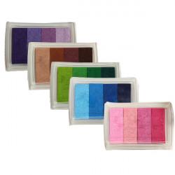 Multicolor Stämpeldynan Stämpel Skum Bläckdynor DIY Craft Kortstämpeldynan