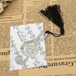 Musik Noterar Legering Bokmärke Dokument Bok Marker Etikettpapper