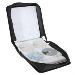 Nya 320 Kapacitet CD DVD Hållare Väska Case Svart till Media Förvaring