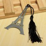New Kärlek Eiffeltornet Alloy Bokmärk Creative Tassel Box Kontorsmaterial