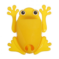 Plastic Frog Toothbrush Holder Sucker Storage