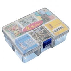 Plast Opbevaring 6 Rum Transparent Demonterbare Værktøj Box Cases