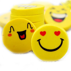 Smile Faces Fancy Gummi Pencil Eraser Set Sød Tegneserie Expression