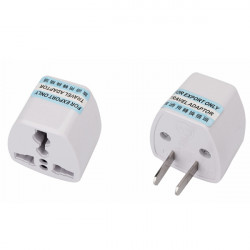 US CHN to Universal plug adapter 2 pins flat pin