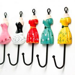 Weinlese Kleid Form Kleidung Hut Haken Tur Badezimmer Zurück Wandhalter
