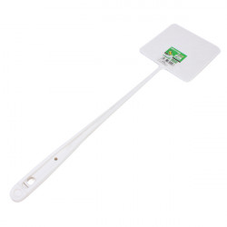 White Long Handle Plastic Bug Insect Fly Pest Swatter Killer Racket
