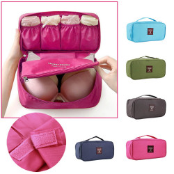 Women Girl Travel Bra Underwear Lingerie Cosmetic Makeup Storage Bag
