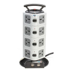 YJ504 4USB Power Strip Socket Overload Lightning Protection 16A Smart Home