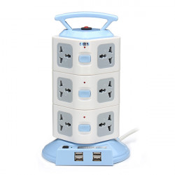 YJ603 12 Outlets 4USB Power Strip Portable Socket Overload Protection