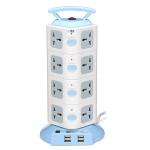 YJ604 16 Outlets 4USB Power Strip Portable Einfaßungs Überlastschutz Smart Home