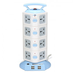 YJ604 16 Outlets 4USB Power Strip Portable Socket Overload Protection