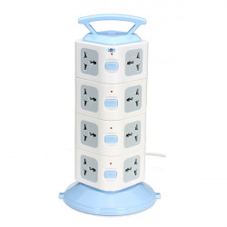 YJ704 16 Outlets Universal Power Strip Portable Socket Plug Adapter