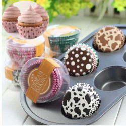 100stk Mini Paper Muffin Cupcake Kop Liners