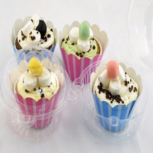 100PCS Plastic Pastry Box Cake box Snack Box Gift Container Kitchen,Dining & Bar