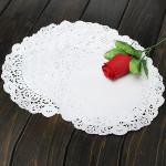 100Pcs 7.5 Inch Round Paper Lace Cake Dessert Doilies Placemat Kitchen,Dining & Bar