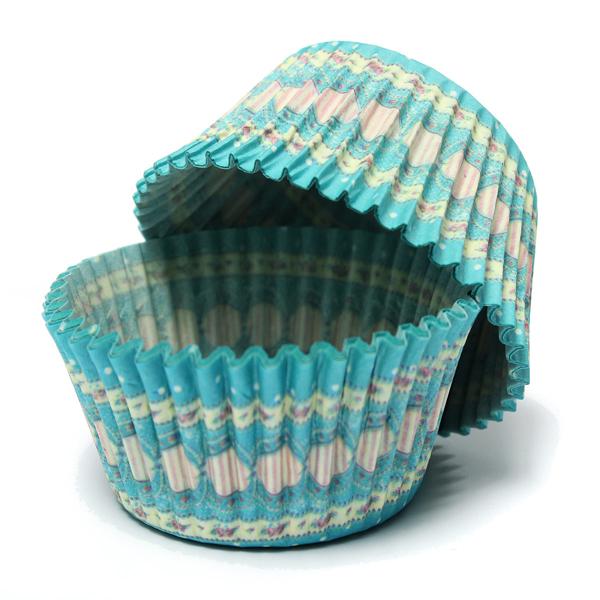 100Pcs Blue Dot Liner Cupcake Muffin Baking Paper Dessert Cup Kitchen,Dining & Bar