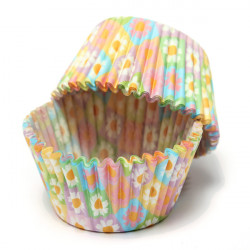 100Pcs Flower Print Paper Cupcake Cake Muffin Cup Party Wedding