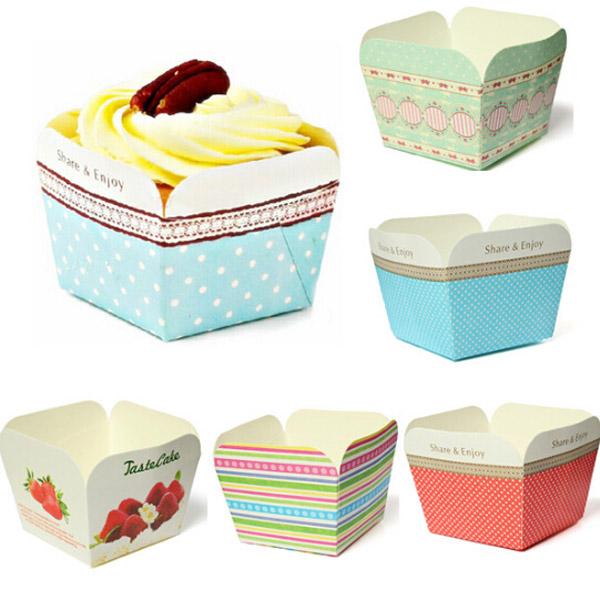100pcs Square Muffin Cupcake Baking Cake Mould Paper Bake Cups Kitchen,Dining & Bar