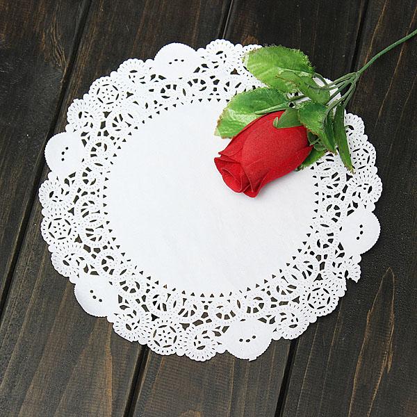 10Pcs 8.5 Inch Round Lace Paper Cake Dessert Doilies Placemat Kitchen,Dining & Bar
