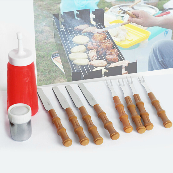 10Pcs BBQ Tools Fork Knife Spice Jar Jam Bottle Barbecue Combination Kitchen,Dining & Bar