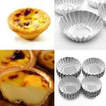 10Pcs Cake Aluminium Alloy Mould Baking Cupcake Egg Tart Mold Kitchen,Dining & Bar
