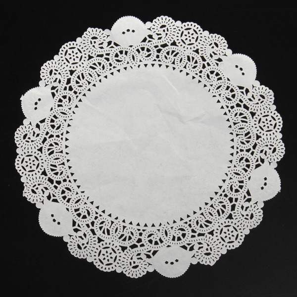 10 Pcs Cake Doilies Cupcake Cookies Lace Round Paper Pads Placemat