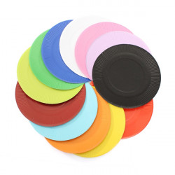 10Pcs Multicolor Round Paper Cake Dessert Plate Disposable Cake Pan