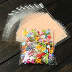 10pcs Letter Design Clear Cellophane Cookie Wedding Candy Party Bags