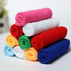10stk Mixed Farve Mikrofiber Renseklud Håndklæder 25 CM X 25cm