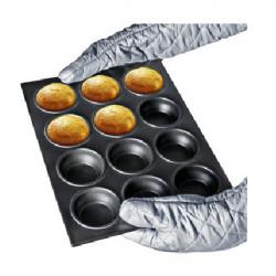 12 Loch Metall Kuchen Mould Geschirr Pan backen Werkzeug