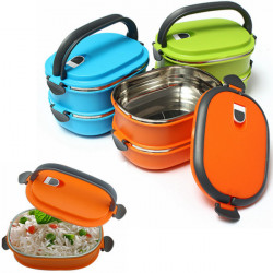 1 Layer Stainless Steel Insulated Bento Box Lunchbox With Handle