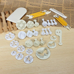 12Sets 37PCS Fondant Cake Decorating Mold Set 04021