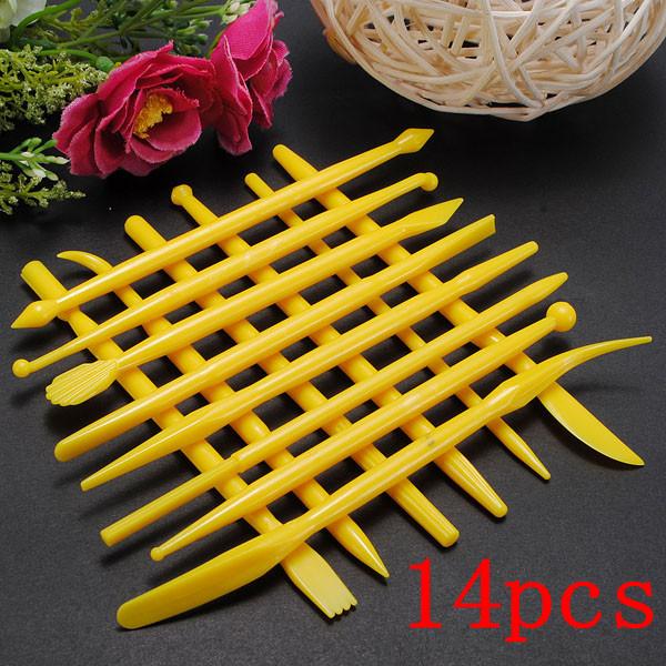 14Pcs Fondant Cake Decorating Tools Flower Cutters Kitchen,Dining & Bar