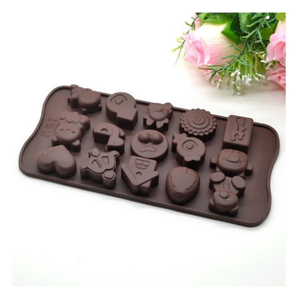 15 Hole Silicone Cartoon Chocolate Mold Kitchen,Dining & Bar