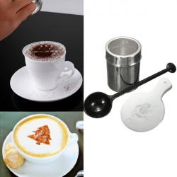 16st Kaffe Cappuccino Stenciler och Choklad Shaker Duster Sil