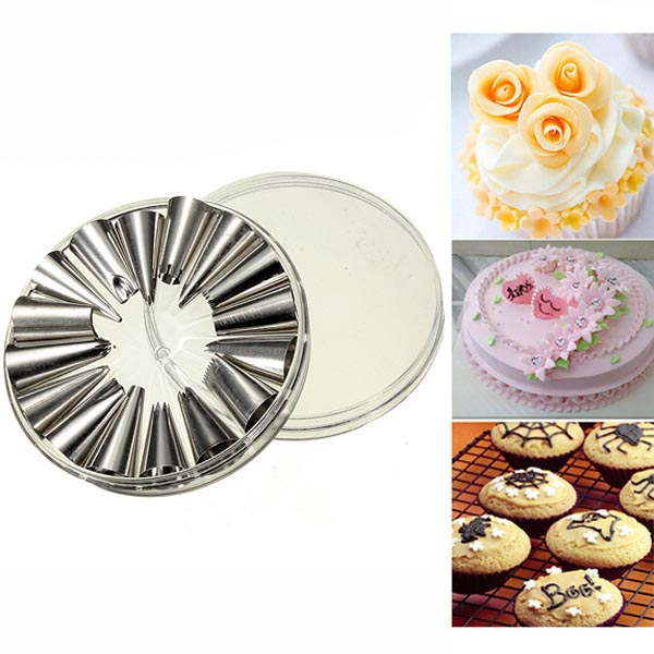16Pcs Cupcake Cake Icing Piping Nozzles Pastry Tip Decorating Tool Kitchen,Dining & Bar