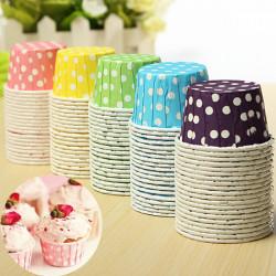 20st Färgglada Cupcake Fett Dessert Bakning Cups