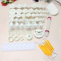 21 Sets 68 PCS Fondant Cake Decorating Mold Set 04072