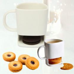 250ML Creative Keramiska Cookie Dunk Mugg Te Kex Mjölk Rätt Cup