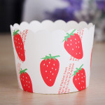25Pcs High Temperature Resistant  Strawberry Muffin Kitchen Cupcake Cups Kitchen,Dining & Bar