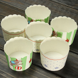 25stk / Taske Farve Papir Cupcake Varmebestandig Imiteret Bagning Cups