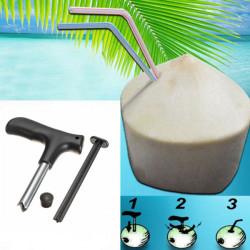 2 in 1 Coconut Driller Schlags Opener Coconuts Bohrloch Werkzeug