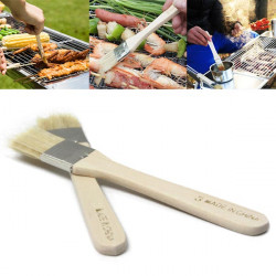2pcs Wool Brushes BBQ Tool Oil Brush Barbecue Supplies