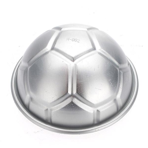 "3.2"" 3D Fodbold Aluminum DIY Birthday Kage Bagning Jello Pan Mould Køkken"