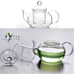 350 ml-1000ML Heat Resistant Glas Tekande med Infuser Coffee Te Leaf