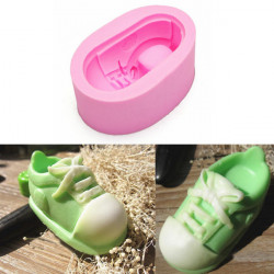 3D Cute Canvas Shoes Silicone Fondant Mold Chocolate Mould